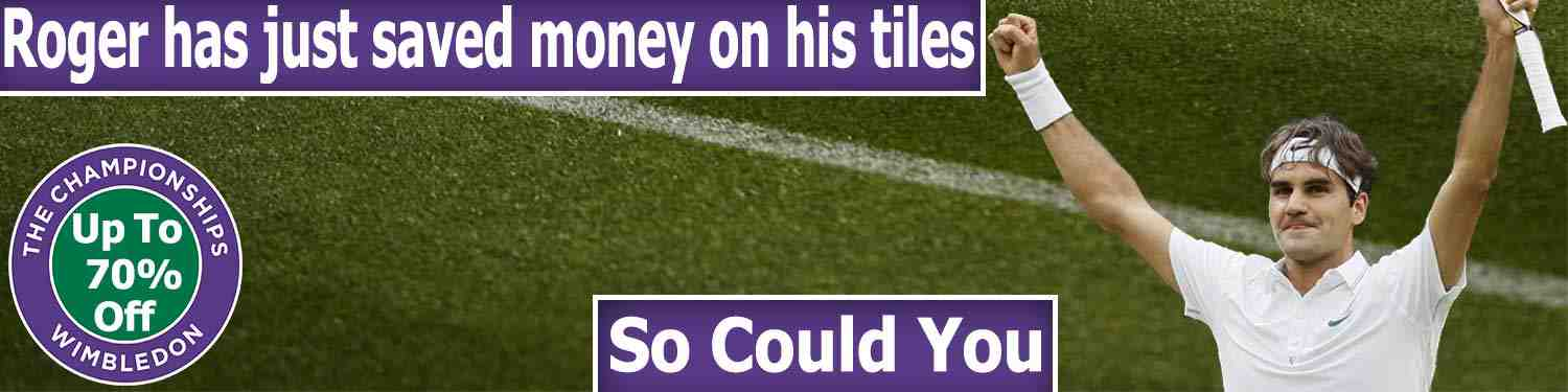Wimbledon Tennis Offer on Tiles July