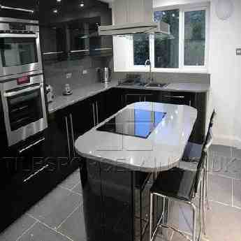 Quartz Worktops Sparkly Kitchen Counter Tilesporcelain